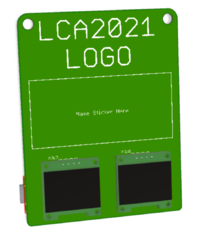 LCA2021 swag badge very first 3D render 2020-09-02